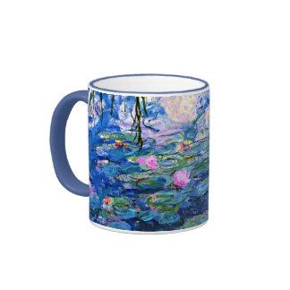 Monet: Lirios de agua 1919 Taza De Dos Colores