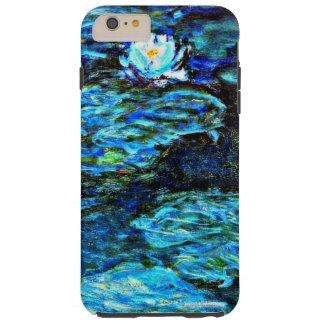 Monet - lirios de agua azul funda de iPhone 6 plus tough