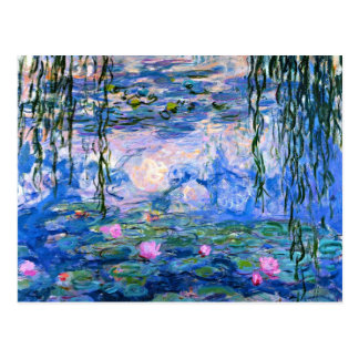 Monet - lirios de agua, ilustraciones 1919 postal