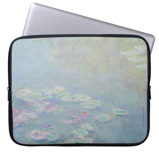 Monet - manga del ordenador portátil de Waterlilie Fundas Portátiles