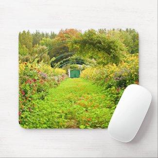 Monet, Monet's garden, Grand Alley Mouse Pad