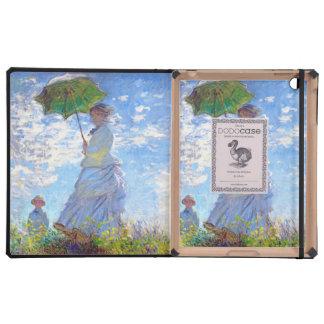 Monet Mujer con el parasol iPad Carcasa