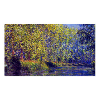 Monet painting bend in Epte river near Giverny Business Card Template