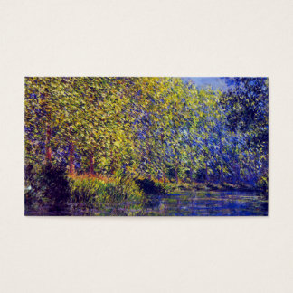 Monet painting bend in Epte river near Giverny Business Card