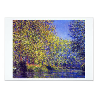 Monet painting bend in Epte river near Giverny Card