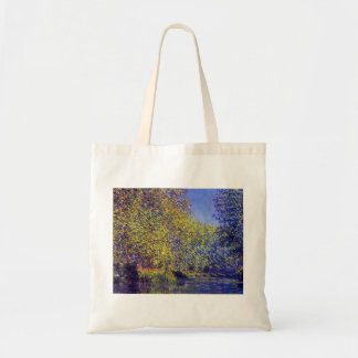 Monet painting bend in river Epte near Giverny Budget Tote Bag