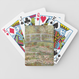 Monet Painting Bicycle Playing Cards