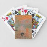 Monet Painting Bicycle Poker Cards