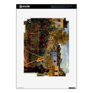 Monet painting in his garden by Claude Monet iPad 3 Skin
