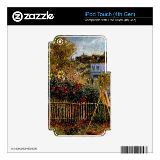 Monet painting in his garden by Claude Monet iPod Touch 4G Skin
