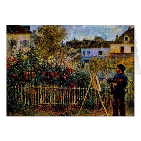 Monet Painting In His Garden In Argenteuil Card
