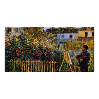 Monet Painting In His Garden In Argenteuil Picture Card