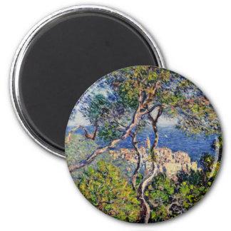 Monet Painting Landscape 2 Inch Round Magnet