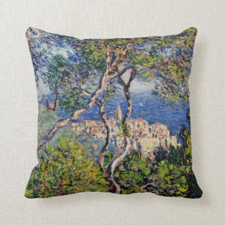 Monet Painting Landscape Throw Pillow
