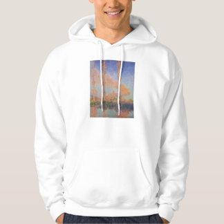 Monet Painting Poplars Hoodie