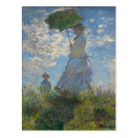 Monet Painting Post Card