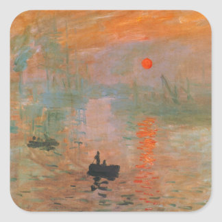 Monet Painting Square Stickers