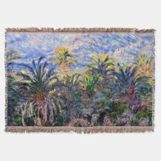Monet Palm Trees Woven Throw