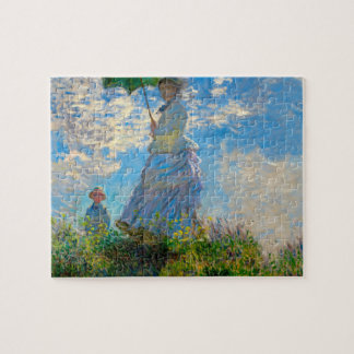 Monet Parasol Woman Painting Artwork Jigsaw Puzzle