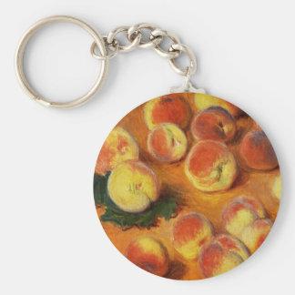 Monet Peaches Key Chain