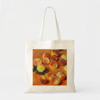 Monet Peaches Tote Bag