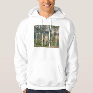 Monet Poplars at Giverny Hoodie