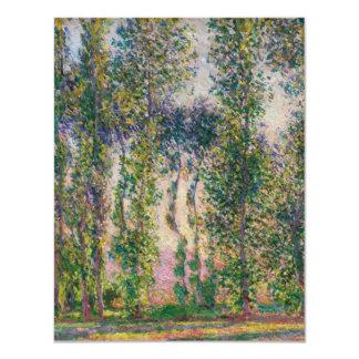 Monet Poplars at Giverny Invitations