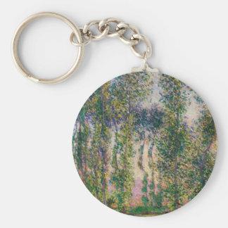 Monet Poplars at Giverny Key Chain