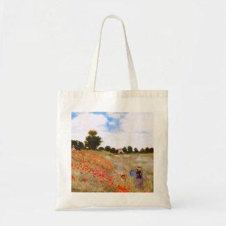 Monet Poppies Tote Bag