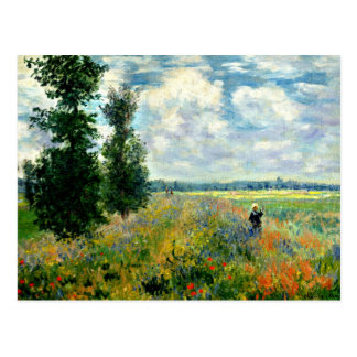 Monet - Poppy Field, Argenteuil Postcard