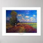 Monet poppy field summer impressionist painting poster