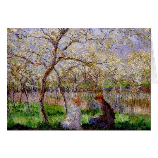 Monet - primavera tarjeta de felicitación
