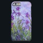 "Monet Purple Irises Tough iPhone 6 Case<br><div class=""desc"">An iPhone case with the impressionist painting Irises (1917) by Claude Monet. A garden of purple flowers.</div>"