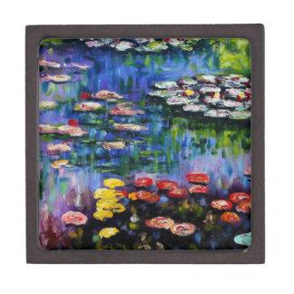 Monet Purple Water Lilies Gift Box