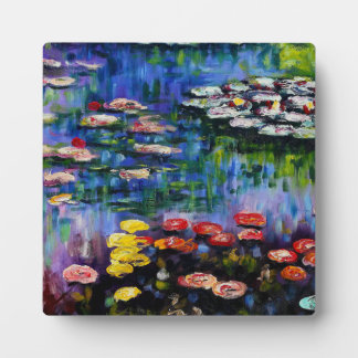 Monet Purple Water Lilies Plaque