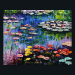 "Monet Purple Water Lilies Print<br><div class=""desc"">Monet Purple Water Lilies print. Oil painting on canvas from c. 1917. French impressionist Claude Monet remains renowned and beloved for the water lily paintings that he created at Giverny. This specific water lily painting features a diverse array of colors including fiery reds, haunting blues, and dreamy purples. A pretty...</div>"