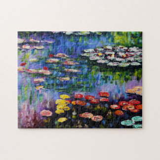 Monet Purple Water Lilies Puzzle
