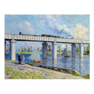 Monet - Railway Bridge at Argenteuil Postcard