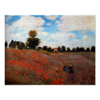 Monet Red Poppy Field Fine Art Print