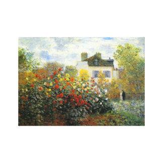 Monet Rose Garden Canvas Print