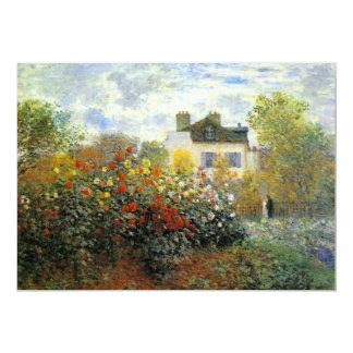 """Monet Rose Garden Invitations 5"""" X 7"""" Invitation Card"""