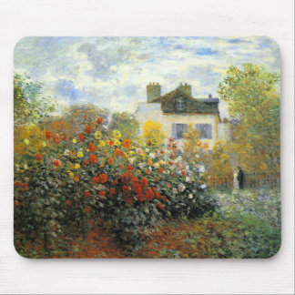 Monet Rose Garden Mouse Pad