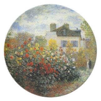 Monet Rose Garden Plate