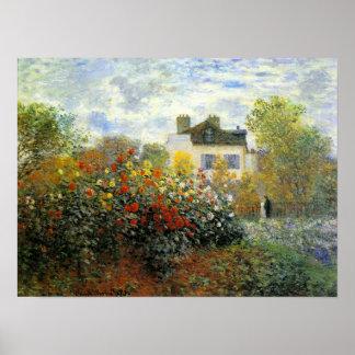 Monet Rose Garden Poster