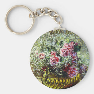 Monet Roses Key Chain