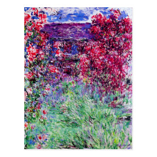 Monet Roses Postcard