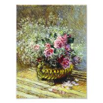 Monet Roses Print