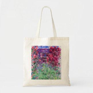 Monet Roses Tote Bag