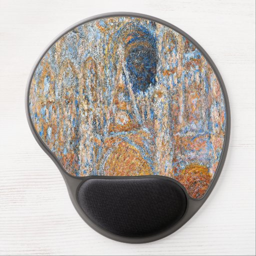 Monet - Rouen Cathedral, the Facade in Sunlight Gel Mouse Pad