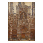Monet, Rouen Cathedral, the West Portal Poster